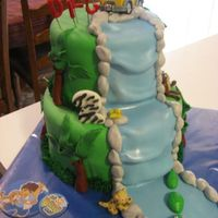 Go Diego Go! This was a Diego themed birthday cake for a little boy named Diego. How cute that they matched the theme. TFL