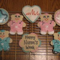 Nurse's Week Cookies I made a bunch of these for Nurse's Week. The bears were copied form Cookies by Design with some added little touches. They're...