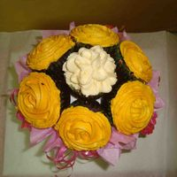 Cupcake Bouquet my 1st cupcake bouquet. hope you like it