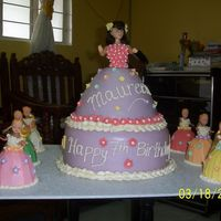 Doll Cake my 1st fondant cake for my niece's 7th birthday last March 18, 2007