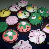 Assorted Cupcakes A gift for my niece's 5th birthday. The kids in her school loved it. It's made of chocolate cake decorated in buttercream icing...