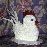 Mother's Rooster Bd  This is another 2006 cake. (I didn't bake any in 2007.) This was for my mother's 92nd BD. She collects roosters, so I had to give...