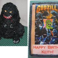 Godzilla, 3-D And Sheet Cake For Ds Birthday  Thanks to Doug for the diagram for the 3-D Godzilla! This is my rendition of GZ for my DS 50th birthday last month. I'm so glad I...
