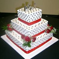 3 Tiered Square Wedding Cake
