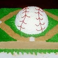 3-Dimensional Baseball Field Cake