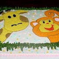 Jungle Babies Shower Cake