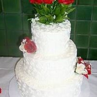 3 Tiered Round Wedding Cake