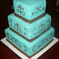 3-Tiered Blue And Chocolate
