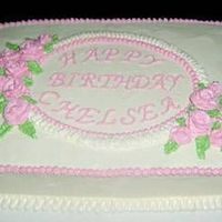 Pretty Pink Birthday Sheet Cake