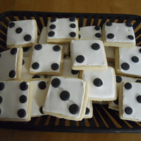 Dice Cookies Dice cookies I made for my mom's Bunco group.