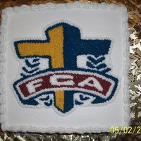 Fca Banquet Cake   Future Christian Athletes cake for their annual banquet.