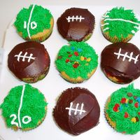 Football Cupcakes Simple football cupcakes for the Superbowl.