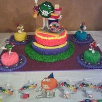 M&ms Birthday COLORFULL FOR KIDS PARTY, JUST CHANGE THE CAKE TOP FOR A BOY M&M AND USE IT FOR BOY OR GIRL