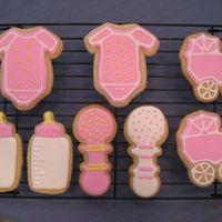 Baby Cookies NFSC decorated with RI