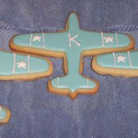 Airplane Cookies Almond NFSC with Wilton RI. Made 40 of these for a baby shower using the P-51 cutter from kitchen gifts... broke another 18. Warning, this...