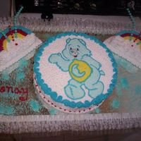 Cake De Care Bear   este cake de care bear es echo en papel de arroz espero les guste y me den su opinion