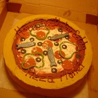 2Nd. Pizza Cake. I made this cake for the family I made the 1st pizza cake for. But they took it with them on a 2 day drive for a relatives birthday. I...