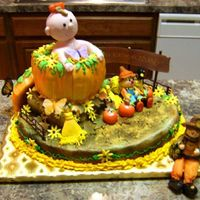 Pumpkin Patch 1St Birthday Cake