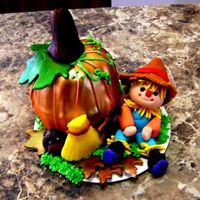 Pumpkin Patch The Pumpkin is WASC cake, Acorn is chocolate everything else is Gum Paste and fondant