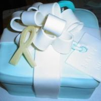Birthday Cake For Cancer Survivor Yes another tiffany box! Meanwhile I'm getting better at my bows so that's a plus! This one has three different color cancer...
