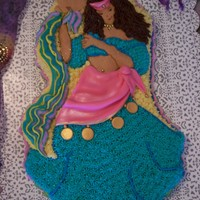 Belly Dancer Or Gypsy Belly Dancer or Gypsy, buttercream with fondant accents.