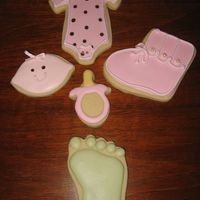 Collection Of Baby Girl Cookies Used For Shower 08