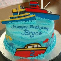 Birthday Boats! Fondant boats to match the birthday boy's favorite book.