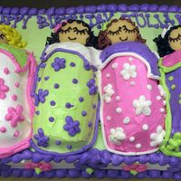 Twinkle And Vanilla Wafer Cute little slumber party cake.Each sleeping bag is a Twinkie and the heads are vanilla wafers.