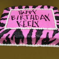 Zebra Hot Pink Once again another smart customer that trusted my creativity.All she did is brought in the party's invitation and allowed me to do...