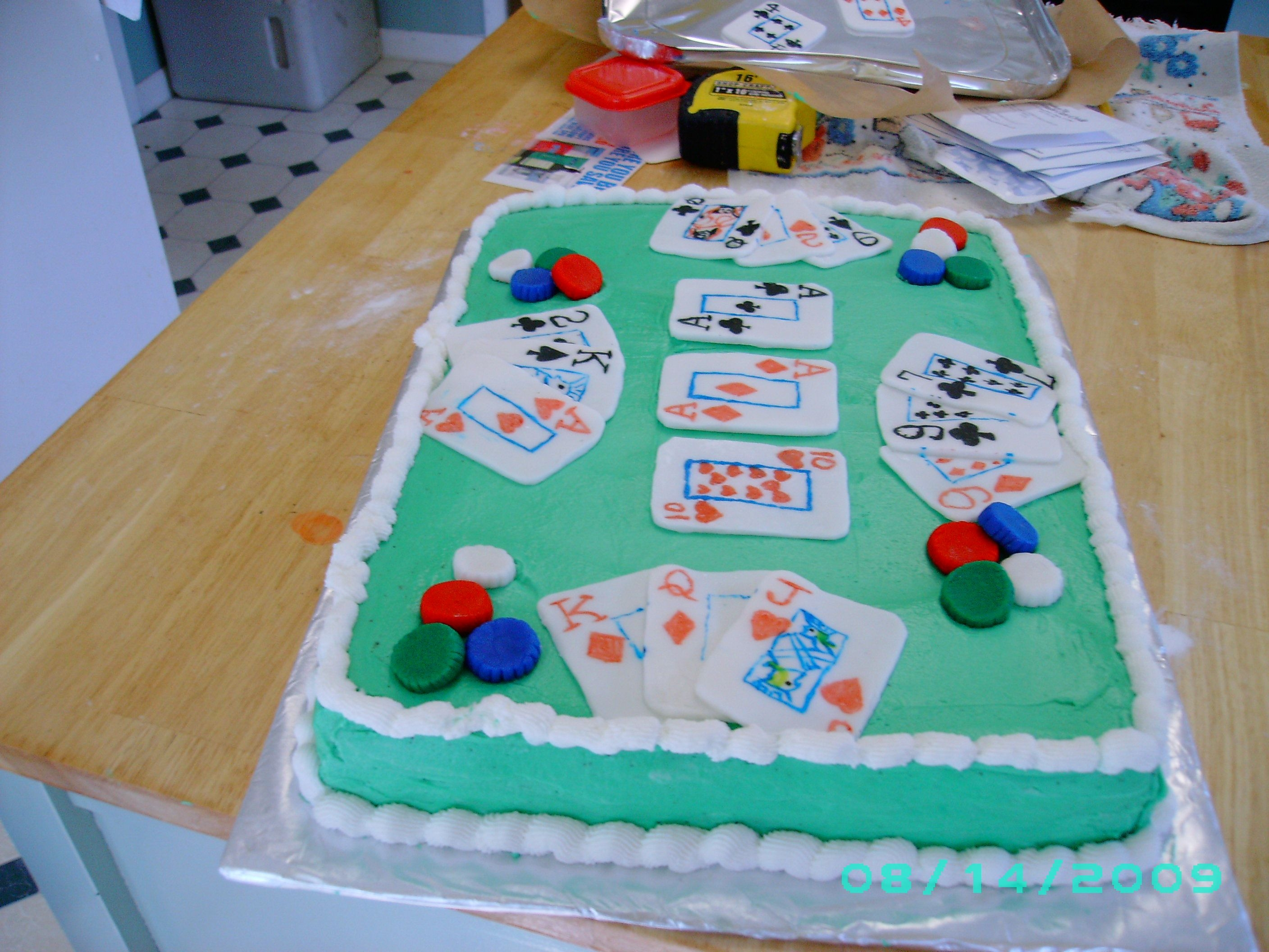 Playing Cards  Brother in law like playing cards. So i made this cake for him on his b-day. He like it alot. Thanks for looking at all my cakes and...