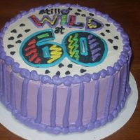"60Th Birthday 2 layer 8"" round"