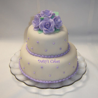 Roses For Mama A birthday cake for my mom combining two of her favorite things: roses and lavender! TFL! :)