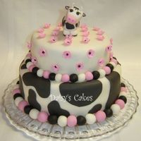 Whimsical Cow Birthday Cake Thanks to KathyCC for the inspiration of this cake! I am pleased with how it came out. TFL!
