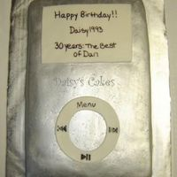 Silver Ipod Cake I used silver luster dust get get the metallic finish on this cake and while it looked great in person, unfortunately I had a hard time...