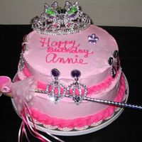 Princess Cake I made this for a little 3 yr old who IS a princess in every way! Pink french vanilla bc all over, torted with vanilla pudding. I didn'...