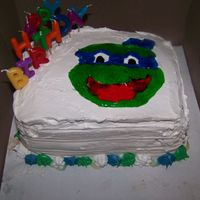 Tmnt I made this ice cream cake for my son 11th birthday. I mess up on the mouth but I was the only one that really cared. lol They just wanted...