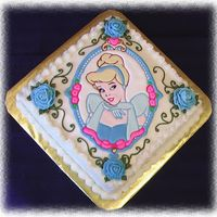 Disney Cinderella Colorflow Cake Made the colorflow plaque when I took the Wilton CourseII the second time (to work on my flowers). Turned out neary perfect. I was very...