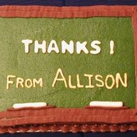 Chalkboard Teacher Thank You Cake