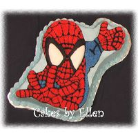 Spiderman Wilton Spiderman Cake, used americolor super-red for icing