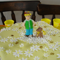 60Th Birthday   I made this cake for my sister, I made her and her dog in fondant