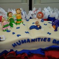 Humanities Day Cake  I made this cake for my daughter and her grade project, that was to celebrate the humanities day at school. The characters are the ones...