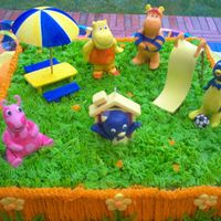 Backyardigans Cake This cake i smade with butter cream icing and gum paste I wanted to make this cake different from others I had made before by using the...