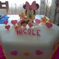 Minnie Mouse I did this cake for a party