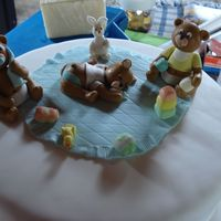Bear Themed Baby Shower  I did the cake with baby animals and with baby accessories because the person wanted it like that and they really liked it. I made it with...
