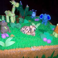 Jungle Cake  I made the figures of the cake based on the ballons that were used to decorate the kids party, I did it using buttercream icing and i did...