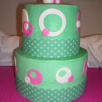 Aqua Polka Dots I made this cake for a second time after a customer saw the first one I made. The first time, it was one of the first cakes I made, so it...