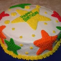 A Star's Birthday! My 2nd ever cake for decorating and I made it for my father's birthday!! I'm enjoying my new hobby!!!