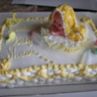 Baby Cakes This is a babyshower cake decorated with Bakemark filled with fresh strawberries and creme the blankie was made with royal icing.