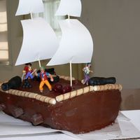 Pirate Cake This is the very first cake I ever did (which was last year)..can you tell?? This was also a disaster. I took this picture right before the...