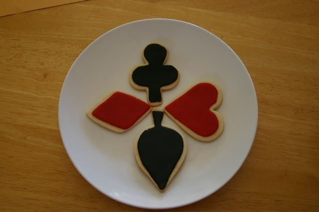 Poker Cookies No Fail Sugar cookies with MMF decorations for my husband's poker night.